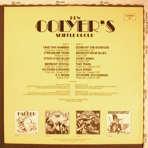 Colyer's Skiffle Group,Ken: Take this Hammer, m-/vg+, Decca(6.22319 AF), D, 1975 - LP - X4615 - 4,00 Euro