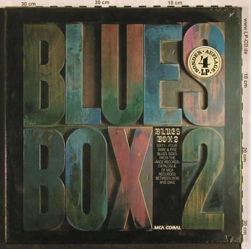 V.A.Blues Box 2: Sixty-Four Rare & Fine MCA..1936-42, MCA(6.30109 FK), D, FS-New, 1976 - 4LP - X886 - 40,00 Euro