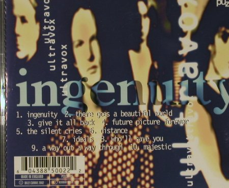 Ultravox: Ingenuity, Puzzle(), UK,  - CD - 51820 - 5,00 Euro