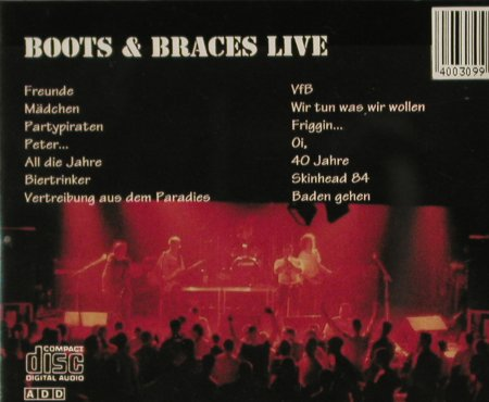 Boots & Braces: Live '93, Metal Enterprises(ME 576 CD), D, 2004 - CD - 58766 - 5,00 Euro
