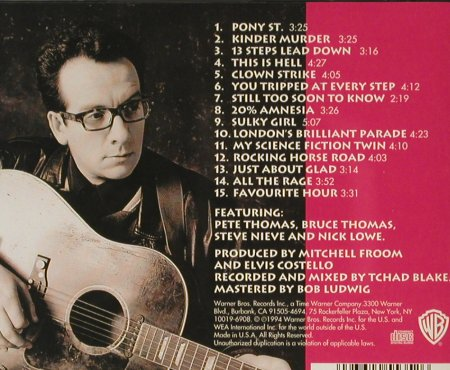 Costello,Elvis: Brutal Youth, co, WB(), US, 1994 - CD - 59298 - 10,00 Euro