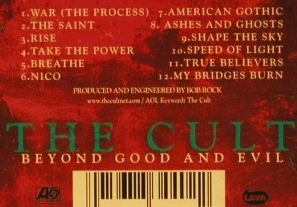 Cult: Beyond Good And Evil, Lava Atl.(), D, 2001 - CD - 65802 - 7,50 Euro