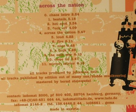 State Of Chaos: Across The Nation, Ladomat(), A, 2003 - CD - 66647 - 5,00 Euro