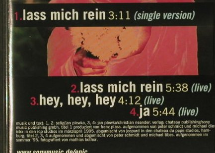 Selig: Lass Mich rein*2+2 live, Epic(), A, 95 - CD5inch - 66913 - 1,50 Euro