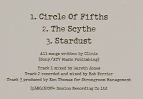 Clinic: Circle of Fifths+2,Promo, Domino(RUG182CDP), EU, 2004 - CD5inch - 80490 - 2,50 Euro