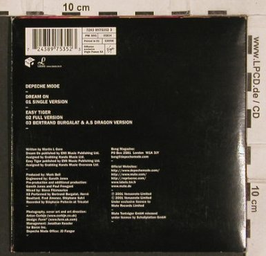 Depeche Mode: Dream On*1+2, Digi, VenusNote(724389753523), EU, 01 - CD5inch - 82085 - 3,00 Euro