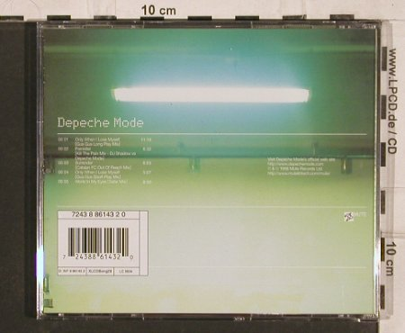 Depeche Mode: Only When I Loose Myself*2+3, Mute CD Bong29(INT 8 86143-2), EU, 1998 - CD5inch - 82089 - 3,00 Euro
