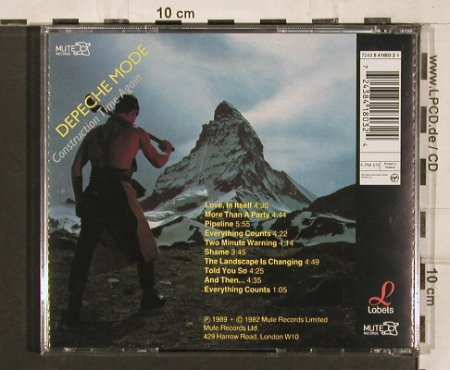 Depeche Mode: Construction Time Again, digt.rem, Mute(724384180324), NL, 1989 - CD - 82105 - 5,00 Euro