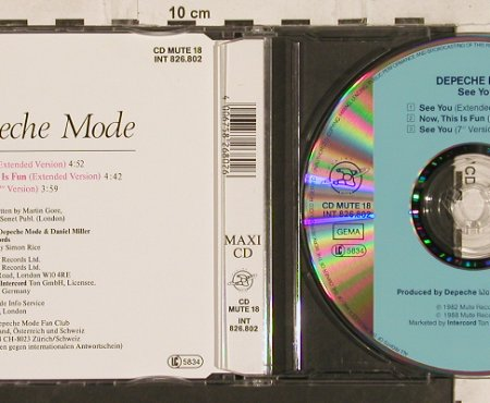 "Depeche Mode: See You*2(ex+7"")/Now This Is Fun, Mute 18(INT826.802), D, 1988 - CD5inch - 82123 - 7,50 Euro"