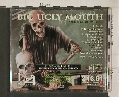 Rollins Band: Big Ugly Mouth,Talking CD, Touch & Go(QS9CD), CDN, 92 - CD - 90660 - 10,00 Euro