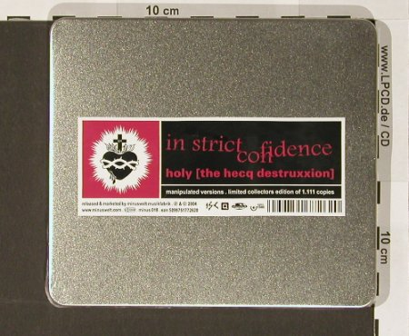 In Strict Confidence: Holy[the hecqdestruxxion], FS-New, Minuswelt(minus018), Lim.Ed.Box, 2004 - CD - 90804 - 11,50 Euro