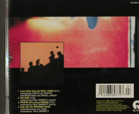 U2: Even Better Than The Real Thing+3, Isl.(), CDN, 1992 - CD5inch - 91546 - 6,00 Euro