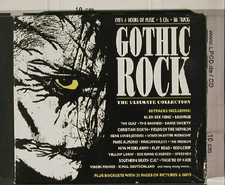 V.A.Gothic Rock Vol. 1-3: Bauhaus ...Actifed, 86 Tr.,Box, Jungle(FREUD 666), ,  - 5CD - 91917 - 12,50 Euro