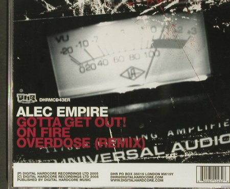 Empire,Alec: Gotta Get Out!,3Tr., FS-New, DHR(Mcd43ER), UK, 2005 - CD5inch - 92272 - 4,00 Euro