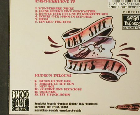 Emscherkurve 77/Hudson Falcons: One Size Slits All, Digi, Knock Out(KOCD168), D, 2003 - CD - 93660 - 12,50 Euro