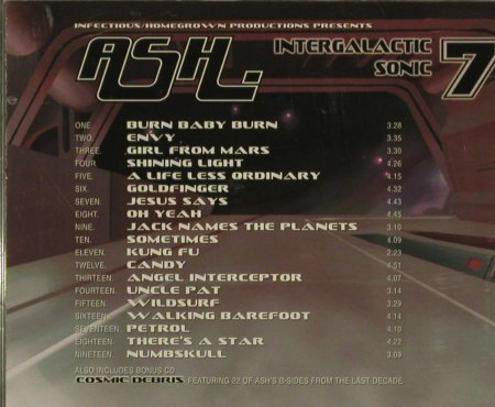 "Ash: Intergalactic Sonic 7""s, Infec120(), , 02 - 2CD - 95363 - 12,50 Euro"