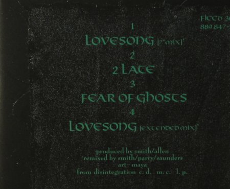 Cure: Lovesong*2+2, Fiction(30), D, 1989 - CD5inch - 95908 - 5,00 Euro