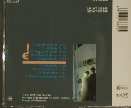 Depeche Mode: Some Great Reward, Mute(INT 836.808), D, 1984 - CD - 96706 - 10,00 Euro