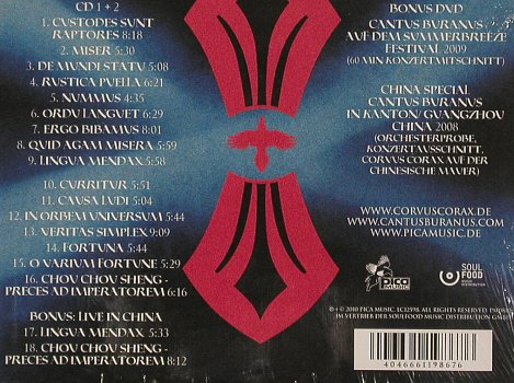 Corvus Corax: Live in München, Digi, FS-New, Pica Music(PM0810-31), , 2010 - 2CD - 80940 - 12,50 Euro