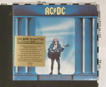 AC/DC: Who Made Who,Digi, FS-New, Epic(510 769 2), , 03 - CD - 90772 - 10,00 Euro