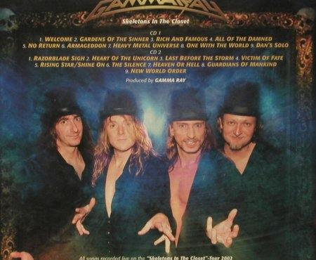 Gamma Ray: Skeletons In The Closet,Digi, Sanctuary(MISDL023), EU,FS-New, 2003 - 2CD - 93427 - 12,50 Euro