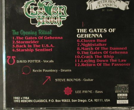 Cloven Hoof: The Opening Ritual/Gates of Gehenna, (RC 1048), , 1993 - CD - 98018 - 20,00 Euro