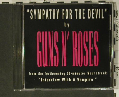 Guns N'Roses: Sympathy For The Devil, Promo,1 Tr., Geffen(PRO-CD-4709), US, 1994 - CD5inch - 98843 - 10,00 Euro