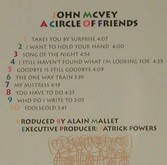 Mc Vey,John: A Circle of Friends, BY IN-T(), D, 1996 - CD - 97212 - 5,00 Euro