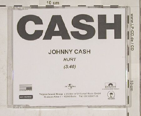 "Cash,Johnny: Hurt, 1Tr. Promo, CDR, Universal(), D,  - CDR5"" - 90183 - 3,00 Euro"