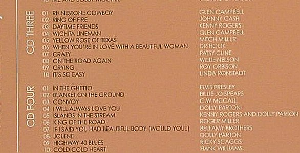 V.A.Pure Country Moods: Country & Western Tearjerking Moods, Beechwood(), UK-Box, 04 - 4CD - 90376 - 7,50 Euro