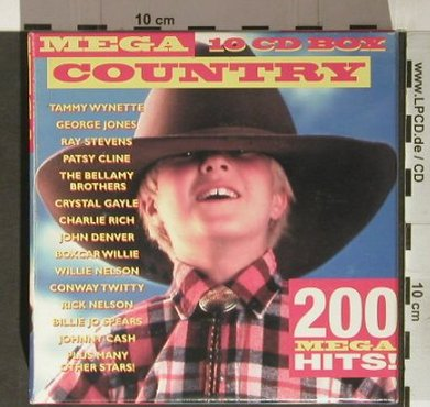 V.A.Mega Country: 200 Mega Hits, Box-Set, Americana Masters(), D, 1997 - 10CD - 92271 - 10,00 Euro