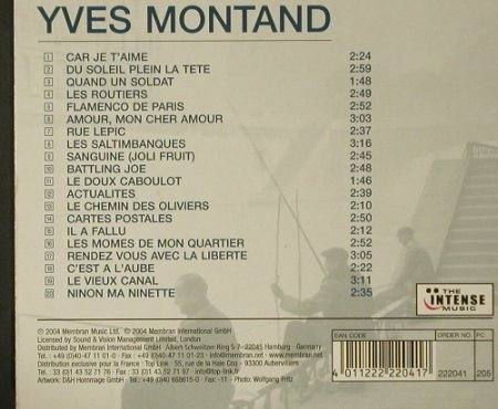 Montand,Ives: Car je t'aime, Membran/Intense Musik(), F, 2004 - CD - 50256 - 5,00 Euro