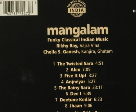 Mangalam: Funky Classical Indian Music,Digi, Enja(TIP-888 827 2), D, 1997 - CD - 96459 - 10,00 Euro