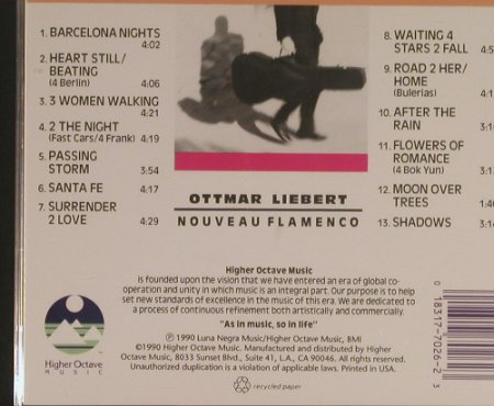 Liebert,Ottmar: Nouveau Flamenco, Higher Octave(HOMCD 7026), EU, 1990 - CD - 99598 - 7,50 Euro