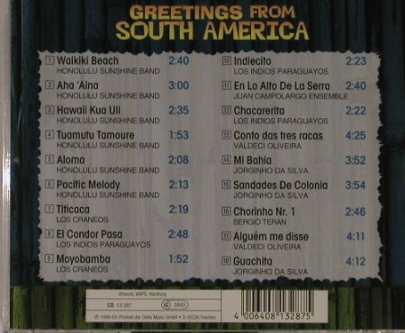 V.A.Greetings From South America: 18 Tr, Delta(), EEC, 99 - CD - 55954 - 4,00 Euro