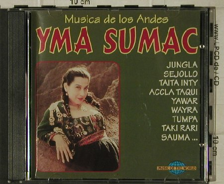 Sumac,Yma: Musica de los Andes, Music of the World(CD 12532), , 1996 - CD - 81592 - 5,00 Euro