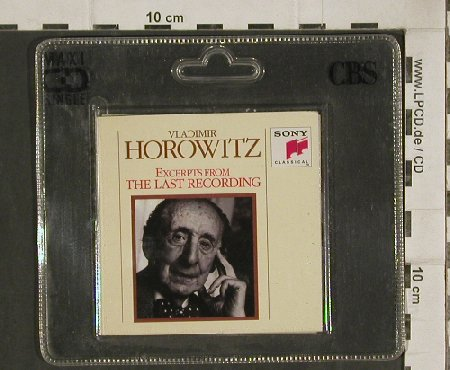 Horowitz,Vladimir: Excerpts From Last Recording, Sony(), 3 Tr.Promo, 1990 - CD3inch - 81026 - 10,00 Euro