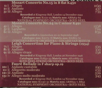 Long,Kathleen: Plays Mozart/Faure,Concerto No15,24, Dutton(CDBP 9714), A/D, 2001 - CD - 81535 - 7,50 Euro