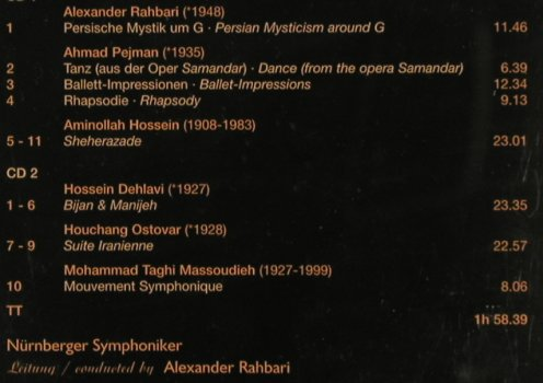 V.A.Symphonie Poems from Persia: A.Rahbari,Ahmad Pejman, Hossein..., Colosseum(COL 9035-2.2), D, co, 2005 - 2CD - 81886 - 10,00 Euro