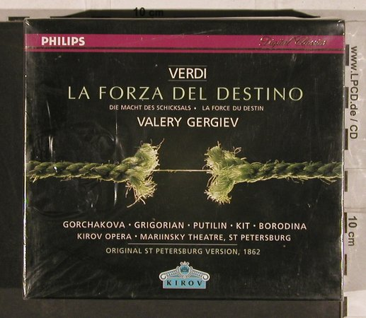 Verdi,Guiseppe: La Forza del Destino, FS-New, Philips/Kirow(446 951-2), D, 1997 - 3CD - 82166 - 20,00 Euro