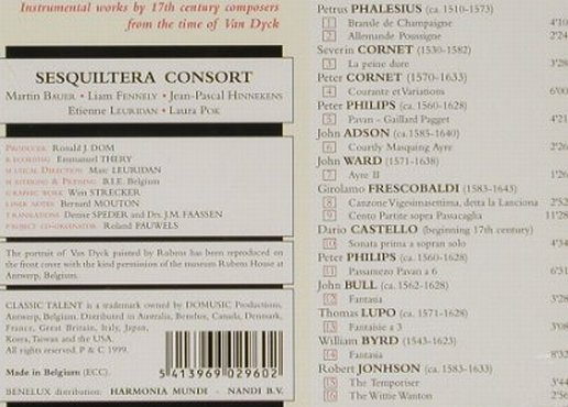 V.A.Music For Sir Anthony: Phalesius, Cornet, Philips,Adson.., Talent(), B, 99 - CD - 91456 - 11,50 Euro