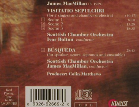 Mac Millan,James: Visitatio Sepulchri/Busqueda, Catalyst(), D, 94 - CD - 91957 - 7,50 Euro