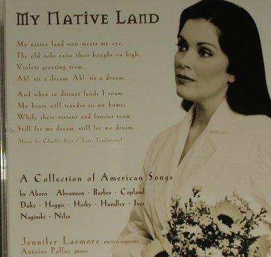 Larmore,Jennifer: My Native Land, Teldec(), EU, 97 - CD - 97465 - 5,00 Euro