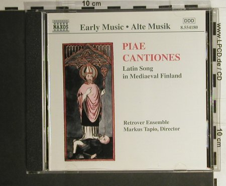 V.A.Piae Cantiones: Latin Song In Mediaeval Finland, Naxos(8.554180), EU, 1998 - CD - 98400 - 12,50 Euro