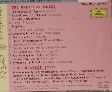 V.A.Mad About Mozart: The Greates Stars..Greatest Music, D.Gr.(439 150-2), D, 1996 - CD - 99034 - 4,00 Euro