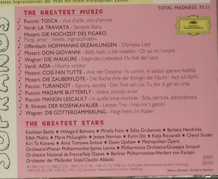 V.A.Mad About Sopranos: The Greates Stars..Greatest Music, D.Gr.(439 153-2), D, 1996 - CD - 99037 - 4,00 Euro