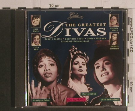 V.A.The Greatest Divas: Price,Callas,Sutherland,Simionato.., Gala(GL 397), NL/D, 1995 - CD - 99477 - 7,50 Euro