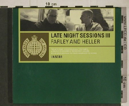V.A.Late Night Session III: Farley & Heller, MinistryOS(LNScd 3), UK, 1999 - 2CD - 81125 - 7,50 Euro