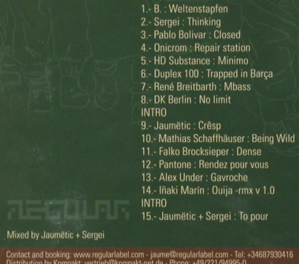 V.A.Regular,My Friends and I: mxed by Jaumetic+Sergei, Digi, Regular(cd1), , FS-New, 04 - CD - 81227 - 7,50 Euro