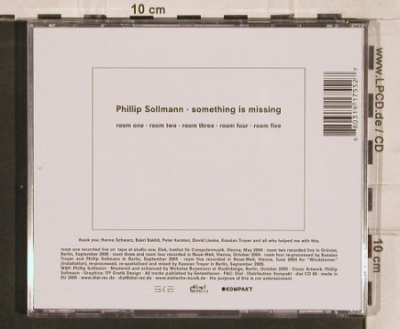Sollmann,Phillip: Something Is Missing, Kompakt(dial cd 08), , 2005 - CD - 82590 - 5,00 Euro